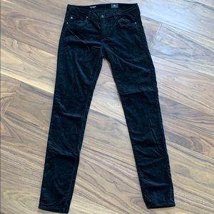 AG black Velvet Skinny Jeans
